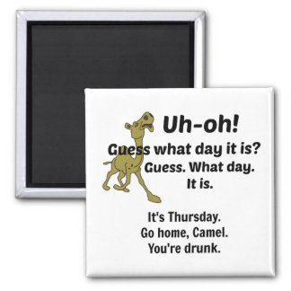Guess What Day It Is Square Magnet