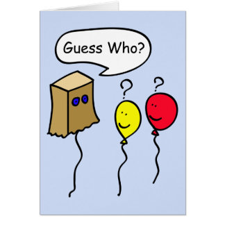 Guess Who, Balloon People Secret Pal Greeting Card