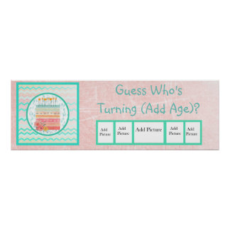 Guess Who Turning Age Birthday Banner Poster