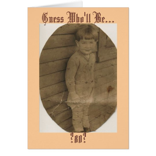 Guess Who'll Be..., ?80? Card