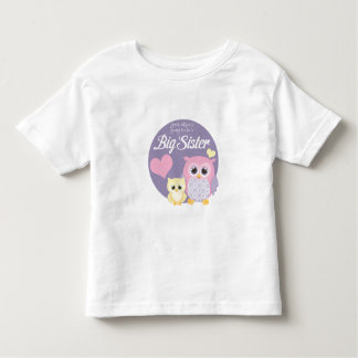 Guess Who's Going to Be a Big Sister? Pastel Owls Toddler T-shirt