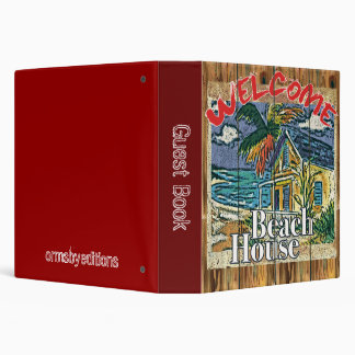 Guest book -  beach house notebook binders