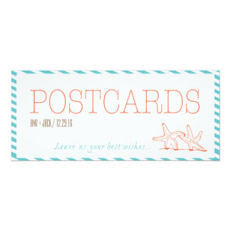 Guest Book Best Wishes Postcard Sign Starfish