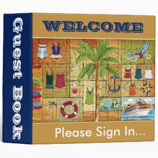 Guest book binder - welcome