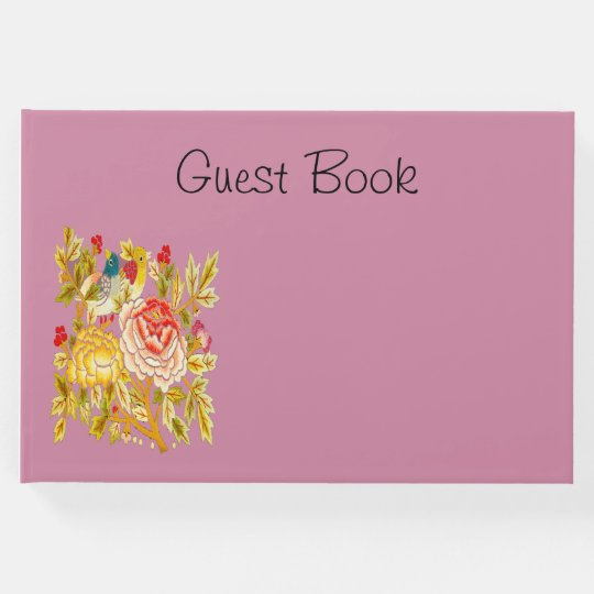 Guest Book embroidery