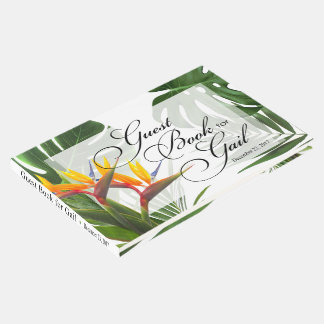 Guest Book for Gail - tropical leaves