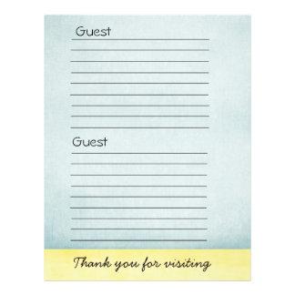 Guest book Paper