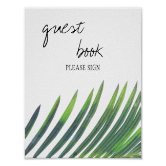Guest Book Sign - Greenery Wedding Poster