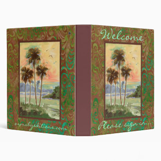 Guest Book- Tropical palms Vinyl Binder
