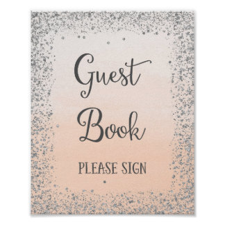 Guest Book Wedding Poster Print