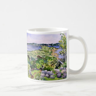 guest house view coffee mug