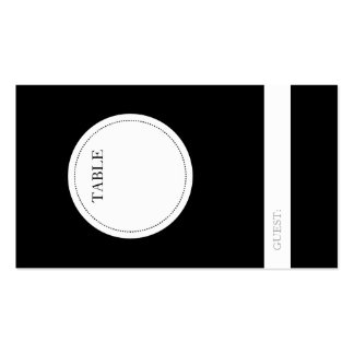 Guest Seating Table Number Indicator Cards Business Card
