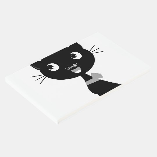 Guestbook with black Cat