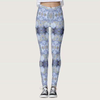 Guêtres bleues profondes de jardin d'iris leggings
