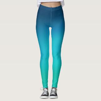 Guêtres d'ombre de vert bleu leggings