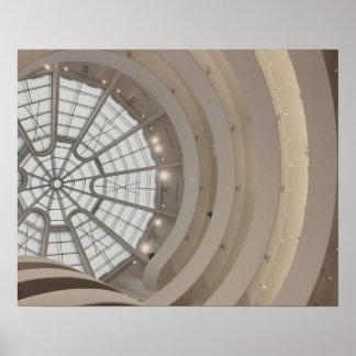 Guggenheim Museum Ceiling in New York City Poster