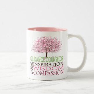 Guidance Counselor Mug-  Cherry Blossoms Two-Tone Coffee Mug