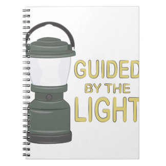 Guided By Light Spiral Notebook