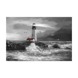 Guiding Light, Yaquina Head Canvas Print