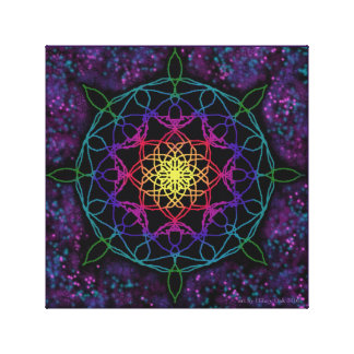 Guiding Star Mandala Canvas Print