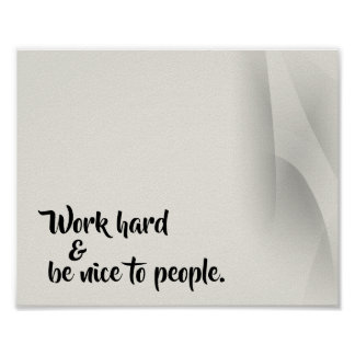 Guiding Words Office Poster Print