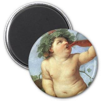 Guido Reni - Bacchus 2 Inch Round Magnet