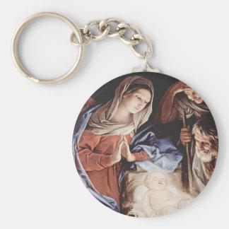 Guido_Reni_Birth Of Christ Basic Round Button Keychain