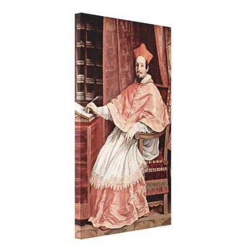 Guido Reni - Cardinal Bernardino Spada-portrait Canvas Print