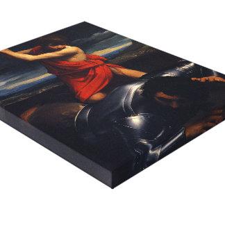 Guido Reni- David and Goliath Stretched Canvas Print