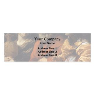 Guido Reni- Loth and her daughters fleeing Sodome Business Card Templates