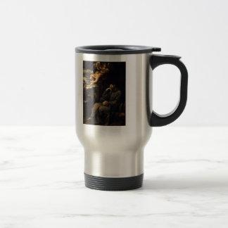 Guido Reni- Saint Francis deadened with musician Stainless Steel Travel Mug