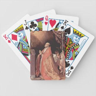 Guido Reni- St. AndrewCorsiniin prayer Bicycle Playing Cards