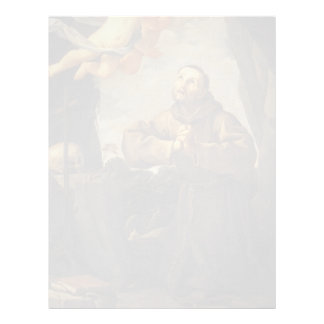 Guido Reni- St Francis in prayer with Two Angels Letterhead Design