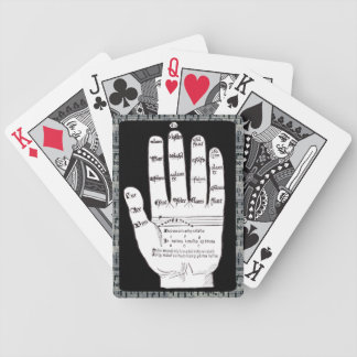 Guidonian Hand, Black and White, Medieval Music Poker Deck
