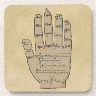 Guidonian Hand, Medieval Music Theory Drink Coaster