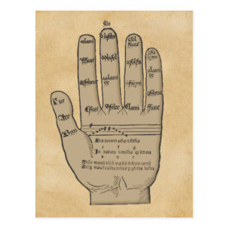 Guidonian Hand, Medieval Music Theory Postcard