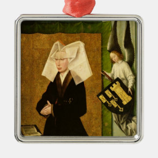 Guigone de Salins, wife of the donor Silver-Colored Square Ornament