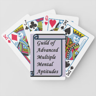 Guild of Advanced Multiple Mental Aptitudes store Bicycle Playing Cards