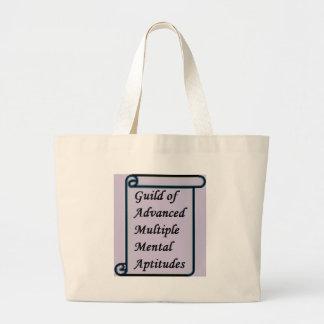Guild of Advanced Multiple Mental Aptitudes store Large Tote Bag