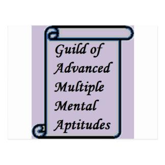 Guild of Advanced Multiple Mental Aptitudes store Postcard