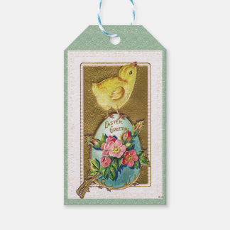 Guilded Antique Easter Baby Chick Pack Of Gift Tags
