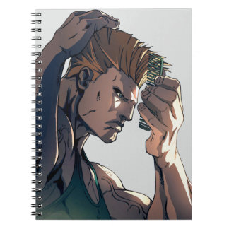 Guile Combing Hair Spiral Notebook