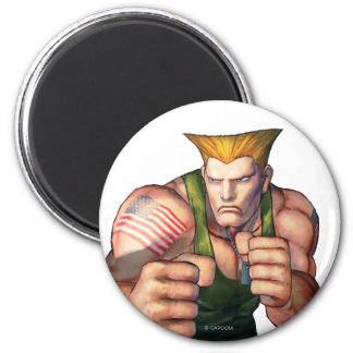 Guile With Fists 2 Inch Round Magnet