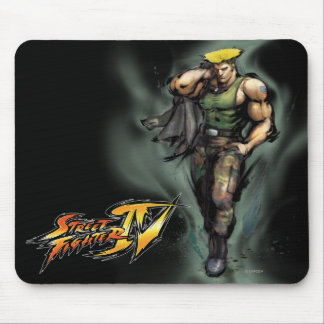 Guile With Jacket Mouse Pad