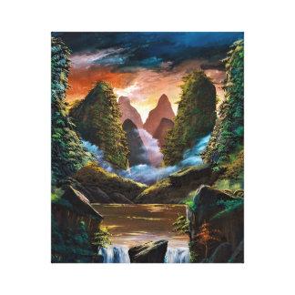 Guilin dusk canvas print