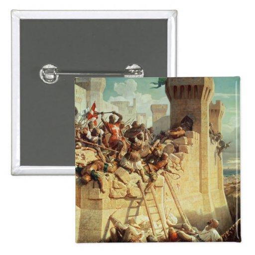 Guillaume de Clermont defending Ptolemais Button