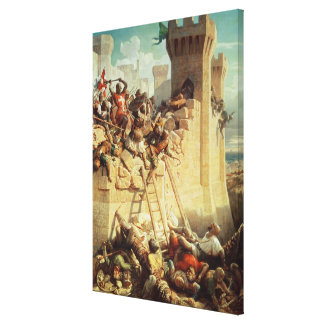 Guillaume de Clermont defending Ptolemais Canvas Print