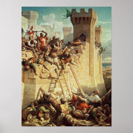 Guillaume de Clermont defending Ptolemais Posters