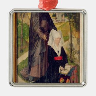Guillemette de Montagu with Saint Guillaume Silver-Colored Square Ornament