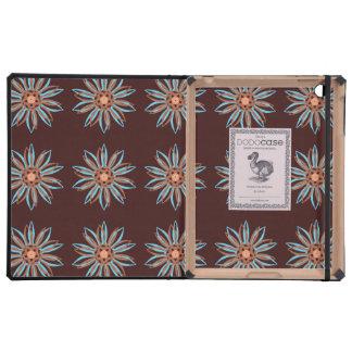 Guilloche Flower black red iPad Case